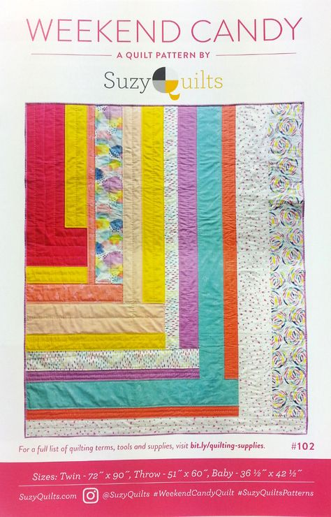 Suzy Quilts Sewing Pattern Weekend Candy Quilt Minis Pinterest