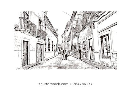Hand Drawn Sketch Of Mexico City In Vector City Sketch Stock Photos How To Draw Hands