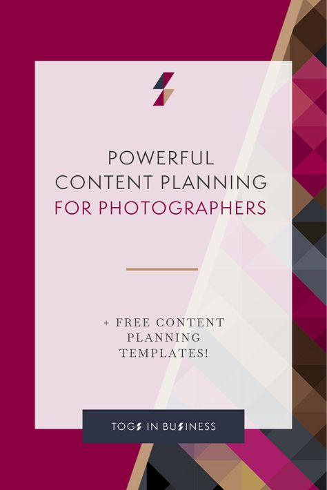 Powerful Content Planning for Photographers – How to do More with Less