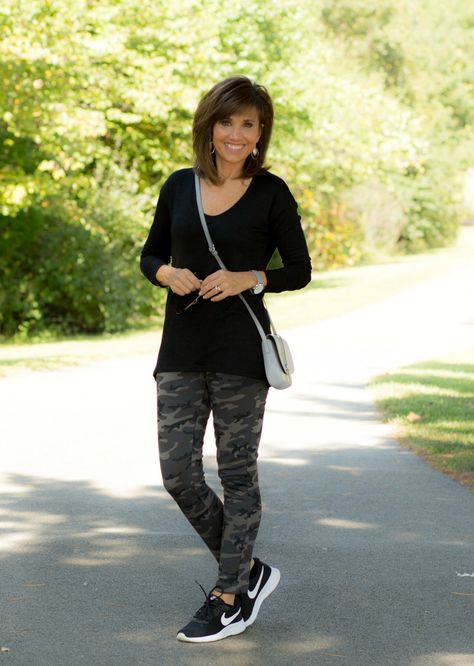 Athleisure Wear For Fall - Cyndi Spivey - - Athleisure wear is a style of clothing worn as athletic apparel but also suitable for casual, everyday wear. Today I'm sharing athleisure wear for fall.