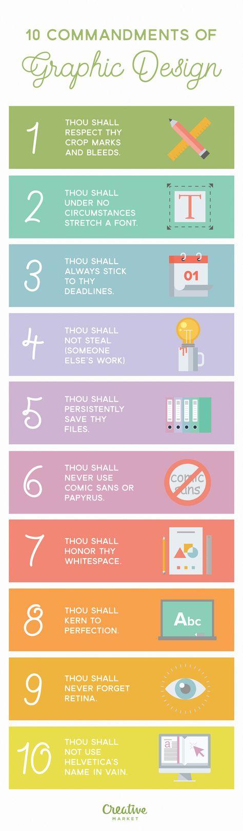 Infographic: 10 Commandments of Graphic Design