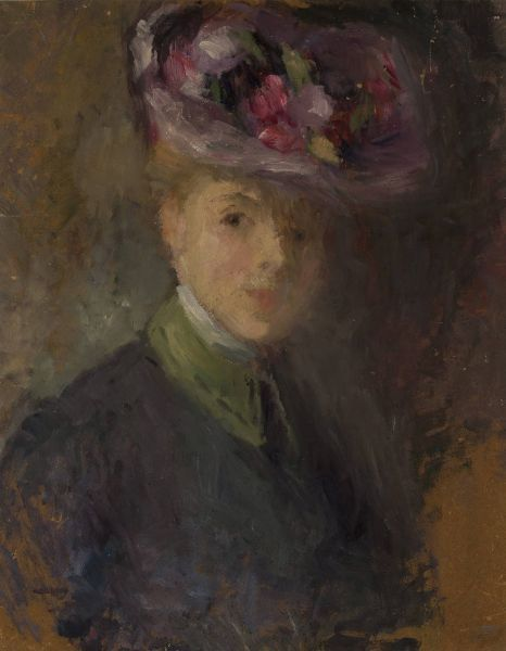 Portret Kobiety W Kapeluszu Z Kwiatami Olga Boznanska Portrait Symbolist Painting