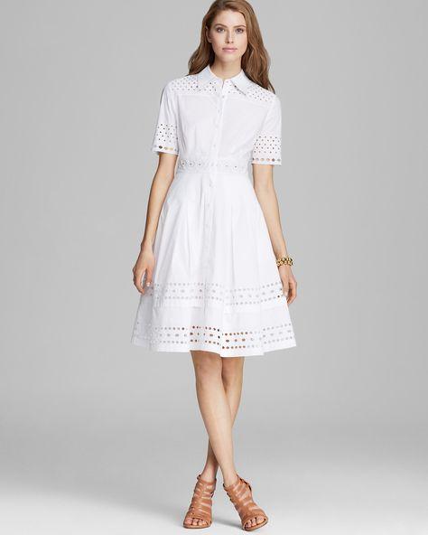 9ab39a32a3f Catherine Malandrino Dress - Ela Button Down Embellished Shirt ...