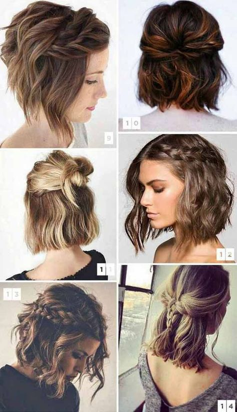 How to style short hair with braids and half up-dos