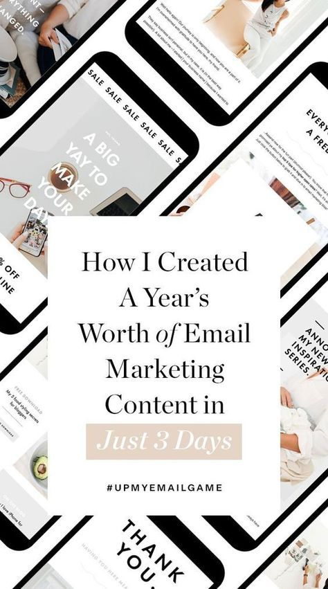 Join the #UpMyEmailGame Challenge: Create a Year of Email Marketing Content in 3 Days + Free Templates - HoneyBook