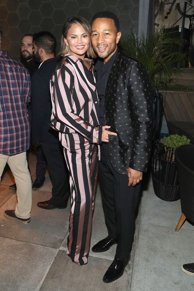 Chrissy Teigen and John Legend attend the 'Queer Eye' Emmy Cast Party.