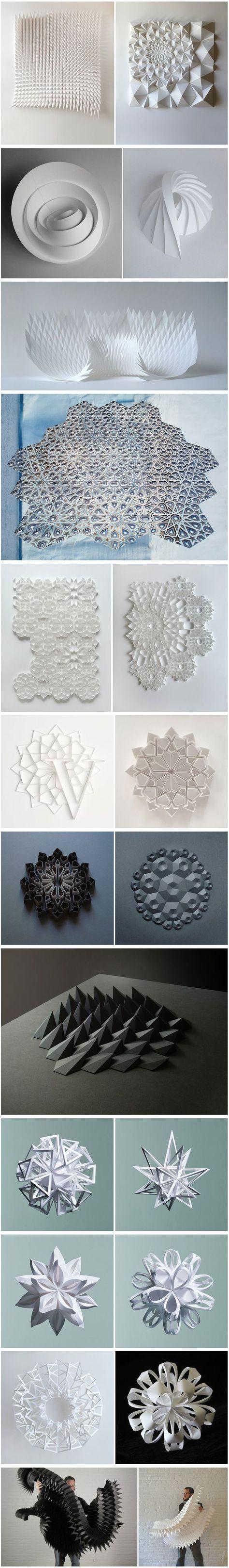 Geometric Paper Sculptures by Matt Shlian