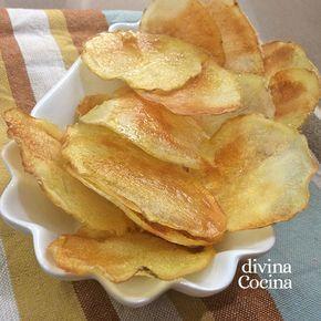 Receta De Patatas Chips En El Microondas Divina Cocina Recetas Con Patatas Patatas Chips Patatas Fritas Al Horno