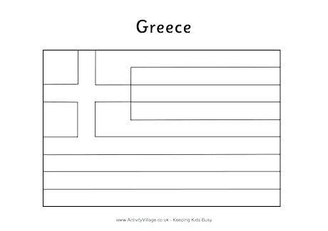 Genuine Printable Greek Flag To Colour Print And 15763 Greek Flag Colorful Prints Print