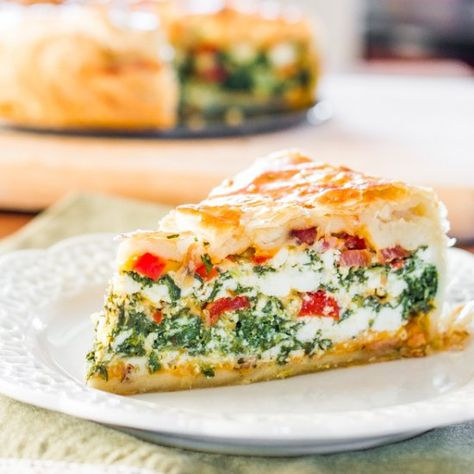 This Spinach Ricotta Brunch Bake is the perfect weekend brunch dish that can be made ahead and will surely please and impress your guests.