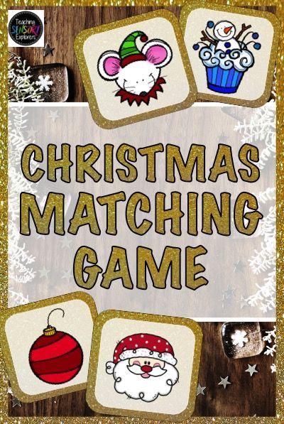 Christmas Themed Matching Game Perfect For Visual Memory And Visual Perception Skills 39 Pa Christmas Kindergarten Christmas Teaching Resources Matching Games