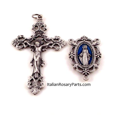 In Loving Memory Italian Teardrop Rosary Crucifix Italian Rosary Parts