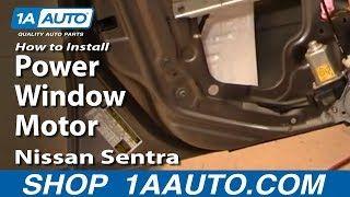 How To Replace Window Regulator 00 06 Nissan Sentra Nissan Sentra Nissan Window Replacement