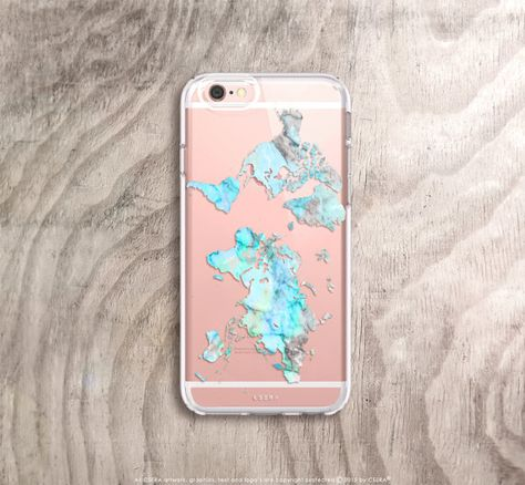 World map iPhone case in mint marble Etsy listing at https://www.etsy.com/uk/listing/268065879/world-map-iphone-6s-case-marble-iphone