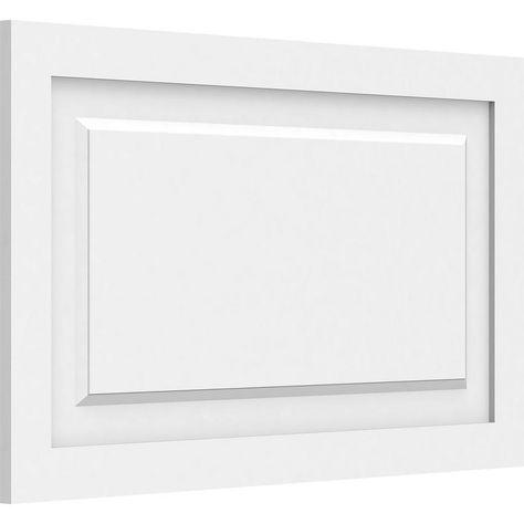 Ekena Millwork 5 8 In X 2 1 2 Ft X 1 1 2 Ft Harrison Raised Panel White Pvc Decorative Wall Panel Walp30x18x062har In 2020 Pvc Wall Panels Decorative Wall Panels White Wall Paneling