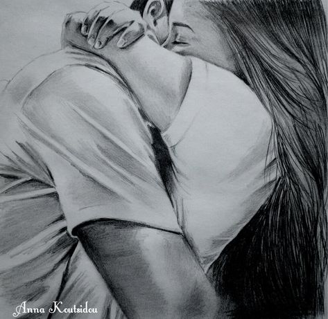 20 Mind-Blowing Pencil Drawings By Greek Artist That Illustrate The Beauty Of Love - I want to die in your arms tonight