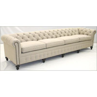 Old Hickory Tannery Tufted Chesterfield Sofa Body Fabric Alistair Black Leg Color Baroque French White Nailhead Detail Sc189 1507 In 2020 Old Hickory Tannery Leather Sofa Sofa