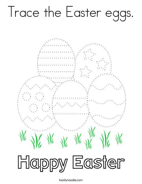 Trace The Easter Eggs Coloring Page Twisty Noodle Coloring Easter Eggs Easter Egg Coloring Pages Egg Coloring Page