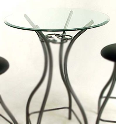Glass 24 Or 30 Inch Round Bistro Bar Table Top Bar Table
