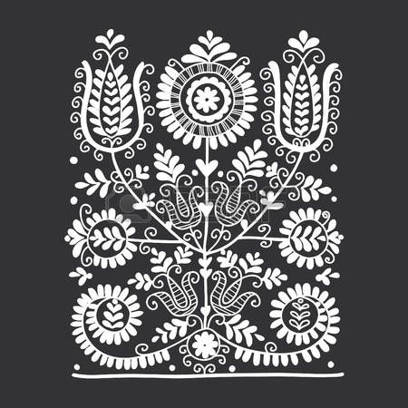 Embroidery Folk Illustration of Floral folk ornament, vector illustration vector art, clipart and stock vectors. Image - - Millions of Creative Stock Photos, Vectors, Videos and Music Files For Your Inspiration and Projects.
