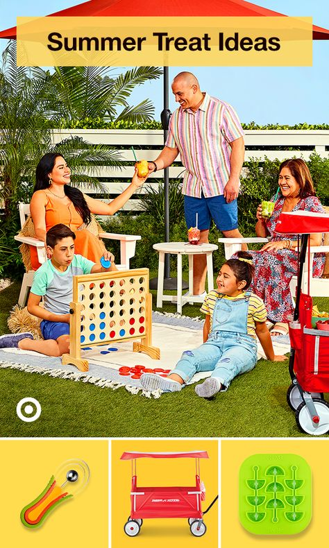 Take the party outdoors with games, activities  treats you can take on the go. Think ice cream or cool slushy drinks in a wagon.