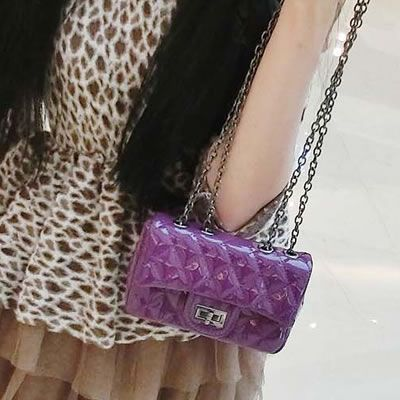 Womens Purple Pliad Mini Chainbag Shoulder Bag