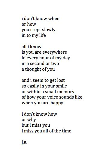 So much later and i miss you so much it physically hurts //