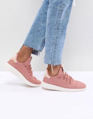 Adidas Originals Pharrell Williams Tennis Hu Sneakers In Pink Pink Adidas Womens Sneakers Adidas Pharrell Williams