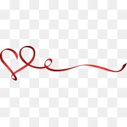 Creative Heart Ribbon Dividing Line Creative Heart Ribbon Png And Vector Ribbon Png Ribbon Banner Album Design