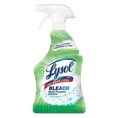 Lysol Multi Purpose Cleaner With Bleach 32oz Spray Bottle 332817 Northern Safety Co Inc In 2020 Lysol Cleaning Supplies All Purpose Cleaners