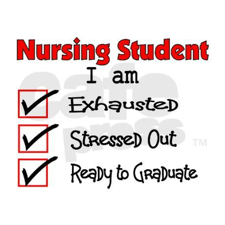 This so use to be my life so glad it is over with even though being a nurse is stressful at times it is nothing like nursing school