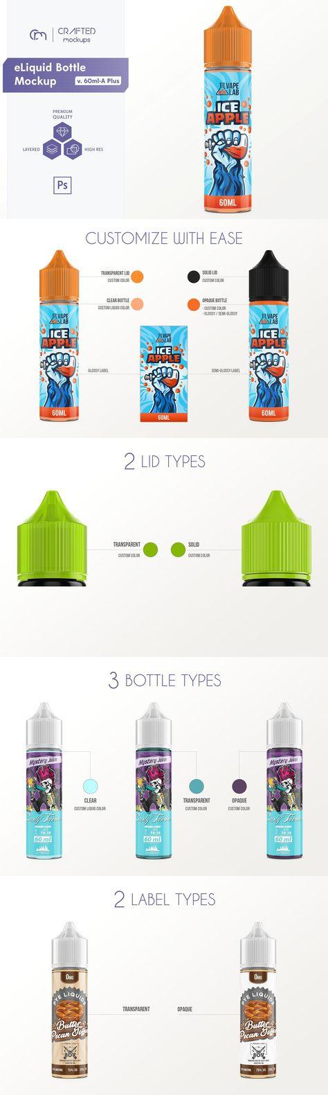 eLiquid Bottle Mockup v. 60ml-A Plus