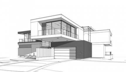 Exterior House Design Drawing