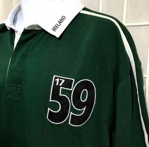 0f1f77cc8b5d Guinness Ireland Rugby Shirt Striped XXXL Arthur Guinness Signature Harp  Logo  Guinness  Rugby  ireland