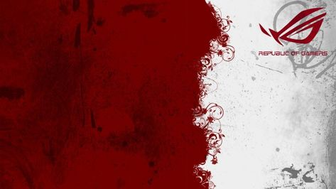Republic Of Gamers Photo Full Hd Red And White Wallpaper White Wallpaper Wallpaper
