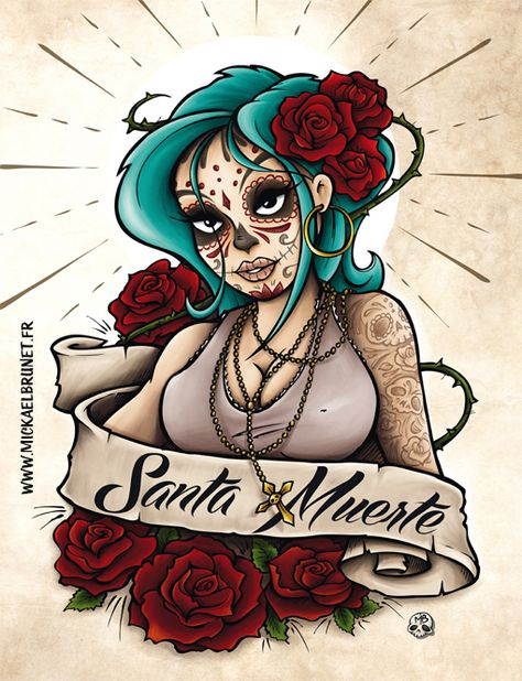 Santa Muerte nice Pinterest Santa muerte, Illustrations and
