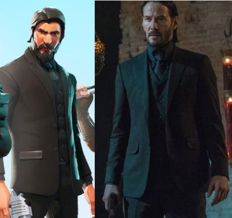 When John Wick Meets Fortnite Keanu Reeves Laurence Fishburne Keanu Reeves Fortnite John Wick