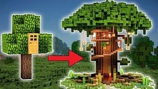 Minecraft How To Build A Large Tree House Tutorial Easy 2018