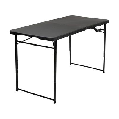 4 Ft Folding Table Black Tailgate Table Folding Table Cosco
