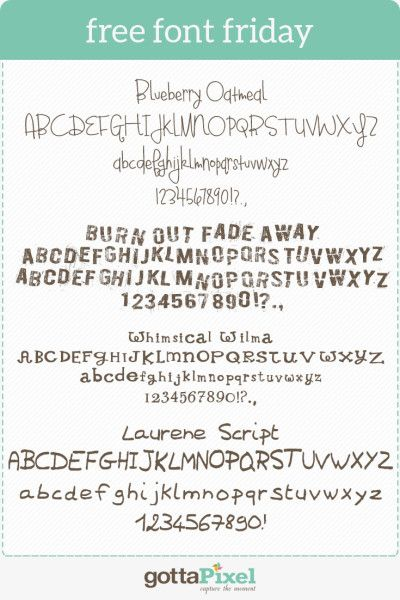 I have to many fonts.. said no scrapbooker ever.  Check out Free Font Friday #84 - Gotta Pixel 2/6/15