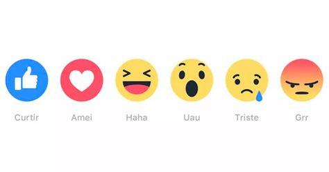 Facebook Comeca A Permitir Reacoes Com Emojis Em Comentarios Com Imagens Reacoes Facebook Emojis Facebook E Instagram