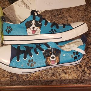 Samoyed Painted Sneakers, personalized dog canvas shoes, custom ...