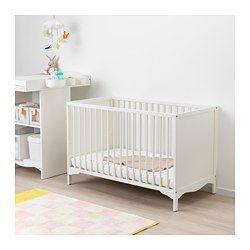 SUNDVIK Lit bébé blanc 60x120 cm | Lit bébé blanc, Lit