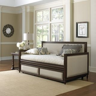 Fashion Bed Group Grandover Daybed With Roll Out Trundle Drawer Upholstered Daybed Wood Daybed Bed Styling