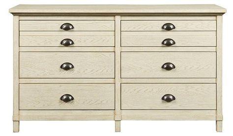 Best Driftwood Park Double Dresser Whitewash Double Dresser 400 x 300