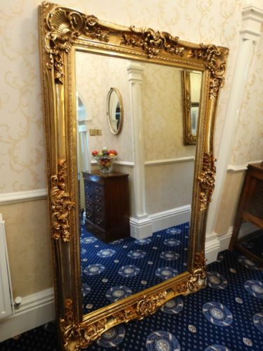 Huge Xl Oversized Large Opulent Mirror Chunky Gold Frame Wall Mounted Or Leaner Gold Frame Wall Large Gold Mirror Gold Mirror Bedroom