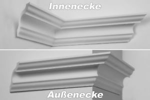NK-E Innenecke Au/ßenecke Stuck Innendekor f/ür Marbet Zierleisten E-1 bis E-35 Modell:NK-E-24 E-24