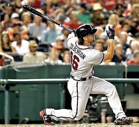 Brave Hit Charlie Culberson Of The Braves Hits A Solo Home Run Against The Nationals On July 20 In Washington Dc The Braves Won 8 5 Braves Homerun Mlb