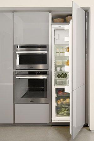 Resultat De Recherche D Images Pour Refrigerateur Integre Cuisine Meuble Cuisine Petit Stockage De Cuisine Deco Cuisine Moderne