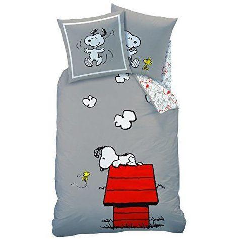 Copripiumino Snoopy.Cti 042748 Snoopy Classic Copripiumino Da 140 X 190 Cm Con 1